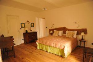 La camera da letto della Casa del Boscaiolo